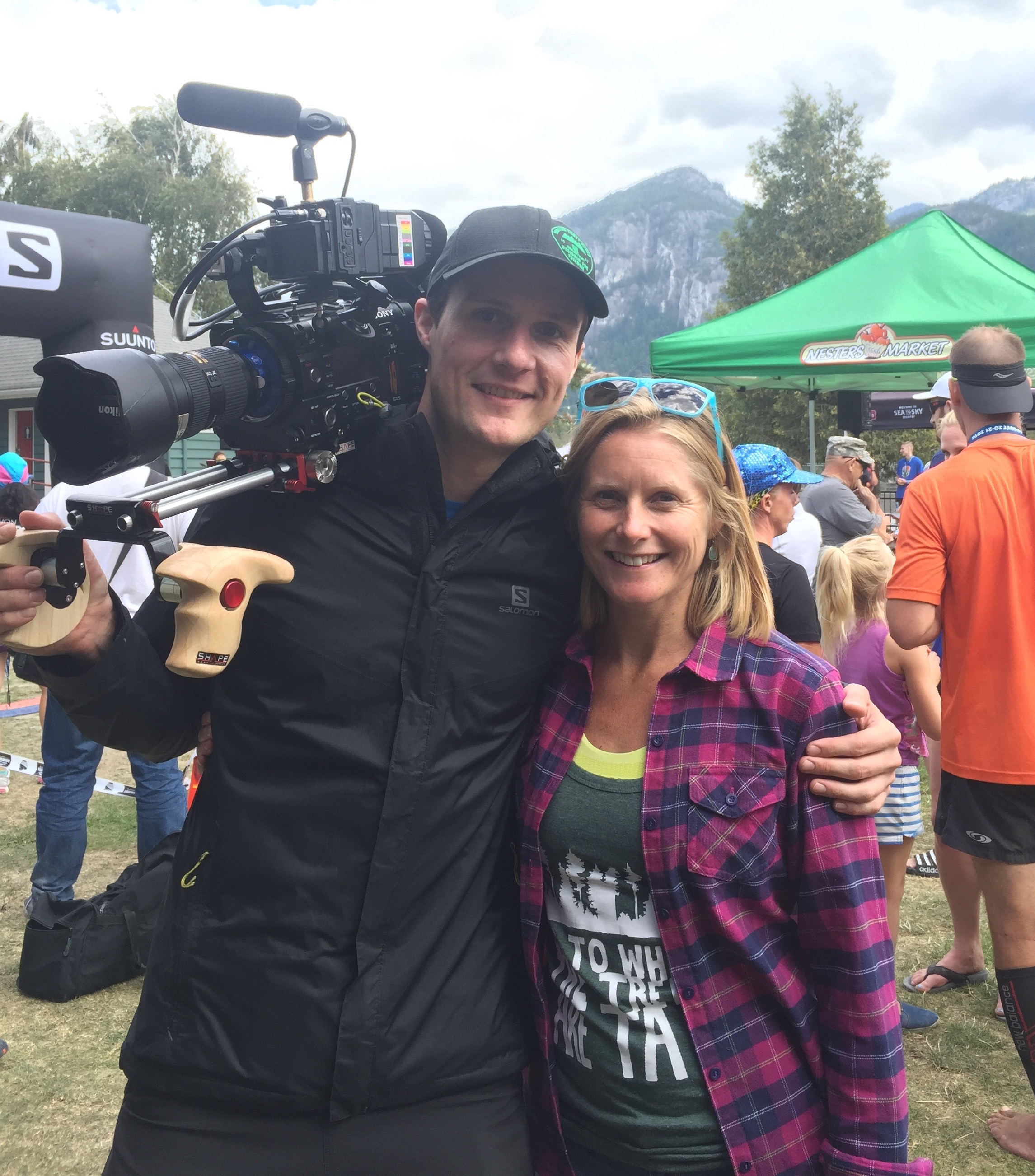 Filming at Squamish 50